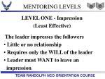 mentoring levels