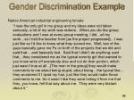 gender discrimination example