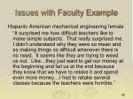 issues with faculty example