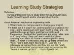 learning study strategies