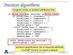 decision algorithms