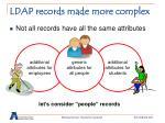 ldap records made more complex