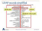 ldap records simplified