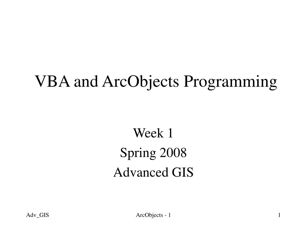 vba and arcobjects programming l.