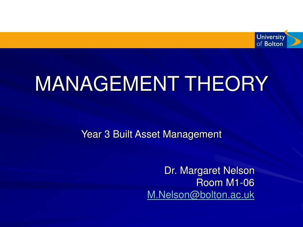management theory l.