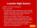 leander high school