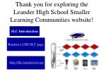 thank you for exploring the leander high school smaller learning communities website
