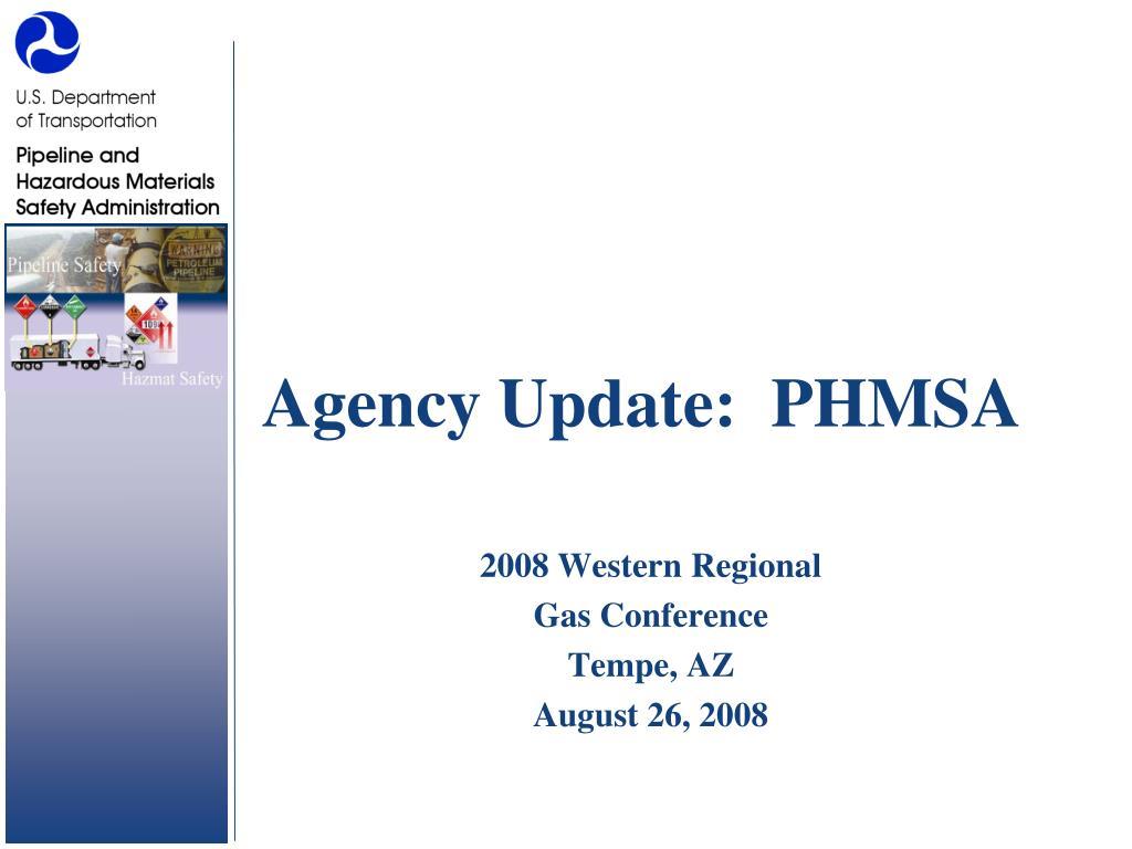agency update phmsa l.
