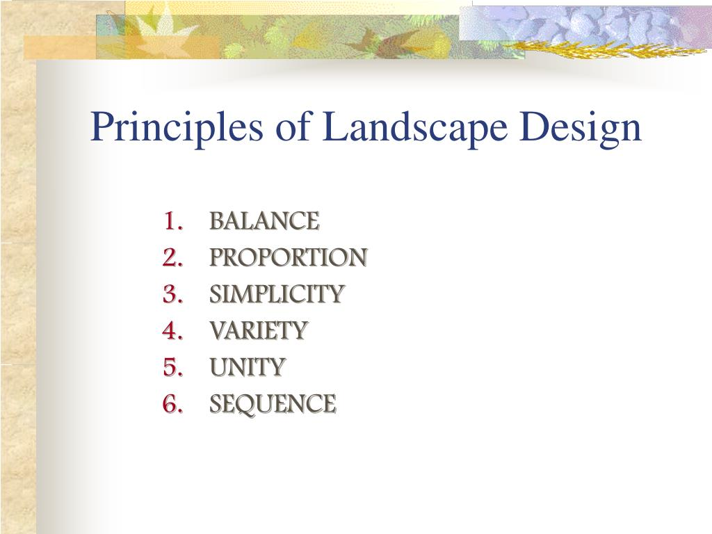 principles of landscape design l.