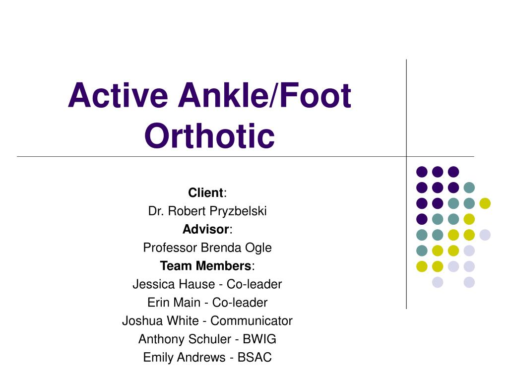 active ankle foot orthotic l.