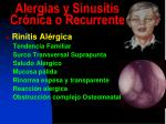 alergias y sinusitis cr nica o recurrente