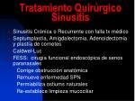 tratamiento quir rgico sinusitis