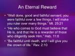 an eternal reward