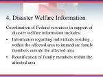 4 disaster welfare information
