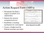 action request form arfs
