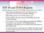 esf 6 and fema regions