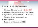 reports esf 6 generates