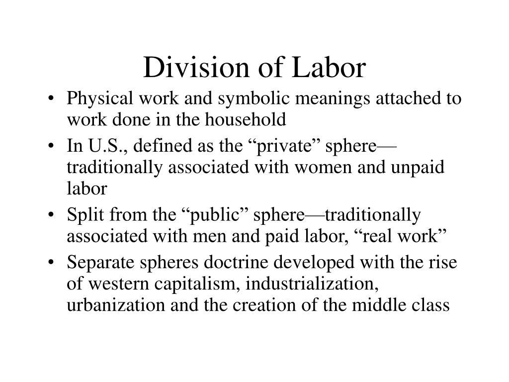 division of labor l.