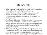 mother role