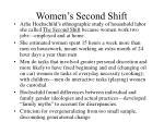women s second shift