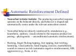 automatic reinforcement defined15