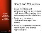 board and volunteers