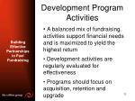 development program activities