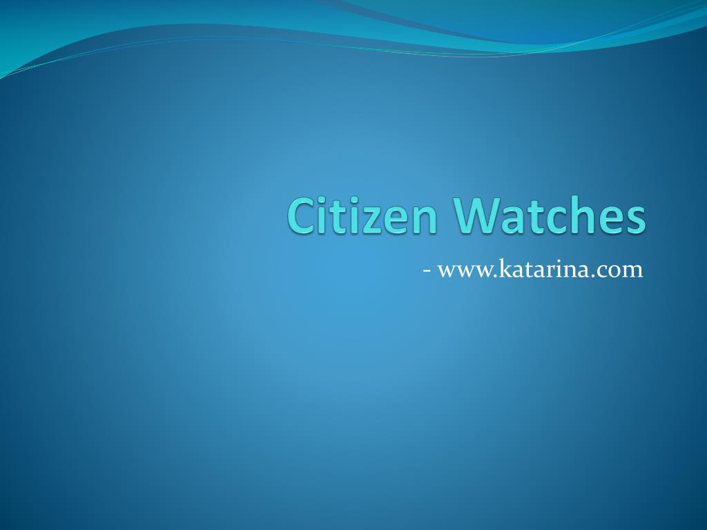 citizen watches l.