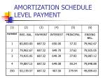 amortization schedule level payment