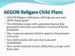 aegon religare child plans
