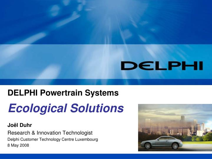 delphi powertrain systems n.