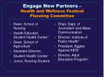 engage new partners health and wellness festival planning committee