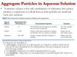 aggregate particles in aqueous solution