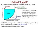 critical t and p
