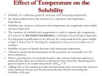 effect of temperature on the solubility