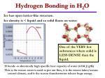 hydrogen bonding in h 2 o