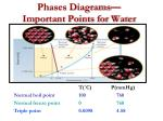 phases diagrams important points for water