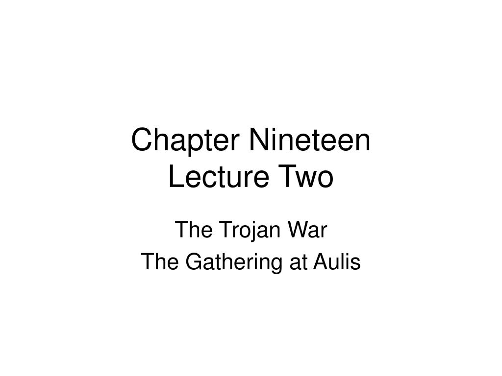 chapter nineteen lecture two l.