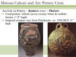 minoan culture and art pottery crete