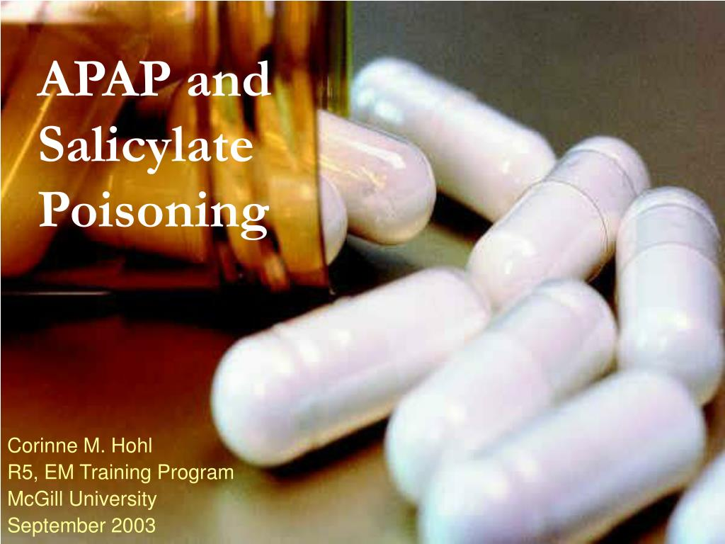 apap and salicylate poisoning l.