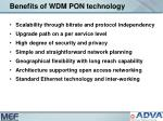 benefits of wdm pon technology
