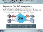 delivering ubiquitous ethernet services the access network challenge