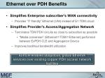 ethernet over pdh benefits