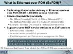 what is ethernet over pdh eopdh