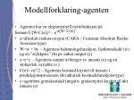 modellforklaring agenten