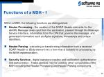 functions of a msh 1