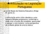 a articula o na legisla o portuguesa
