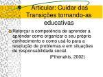 articular cuidar das transi es tornando as educativas30