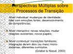 perspectivas m ltiplas sobre processos de transi o