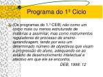 programa do 1 ciclo